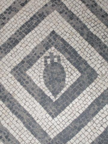 Black and White Mosaic with Emblem of Amphora, Herculaneum (Italy)