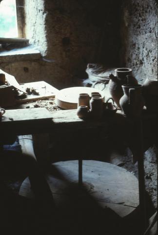 Kick-Wheel in Traditional Potter's Workshop, Vasanello (Italy)