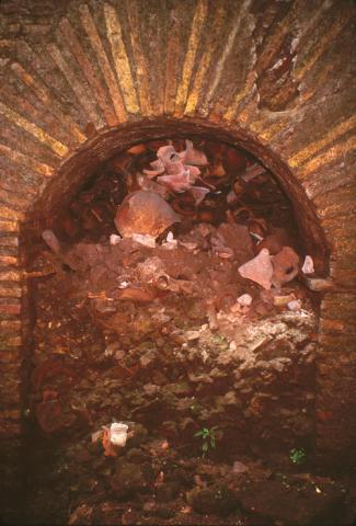 Refuse Dump in Vault, Palatine East, Rome (Italy)